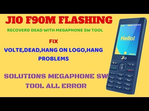 JIOPHONE F90M LYF FLASHING|DEAD RECOVERD|HANG ON LOGO