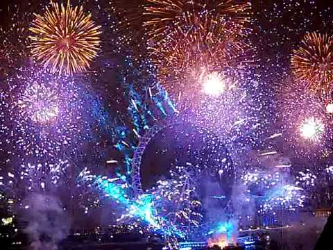 New Year's Eve Fireworks in London -- from