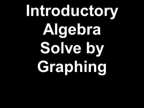 Introductory Algebra Solve by Graphing