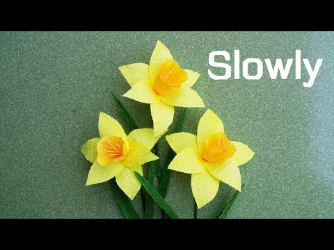 ABC TV | How To Make Daffodils Paper Flower From Crepe Paper - Craft Tutorial #1