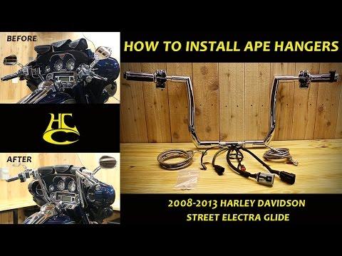 How to Install Ape Hanger Handlebars on 2008-2013 Harley Davidson Street Electra Glide