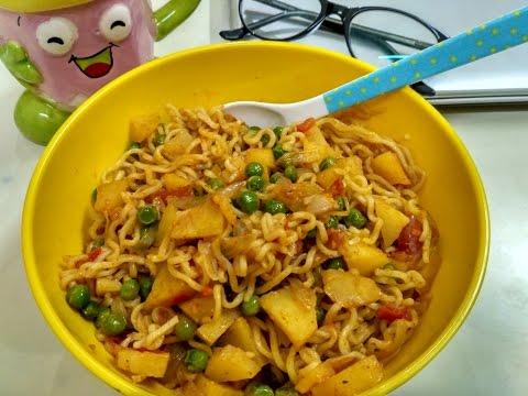 Spicy Veg Potato Maggi   My style Aaloo Wali Maggi   How to make Maggi   Maggi Recipe