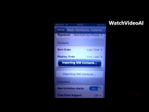 how to import contacts from sim to iphone 3g and 3gS HD