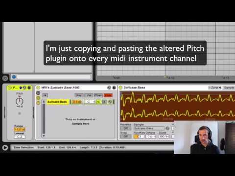 Transposing MIDI in Ableton Live in 5 seconds