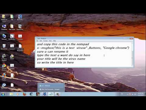 How to make a funny virus with notepad
