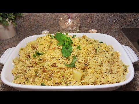 Chicken, Potato and Green Peas Rice | Quick & Delicious Cuisine