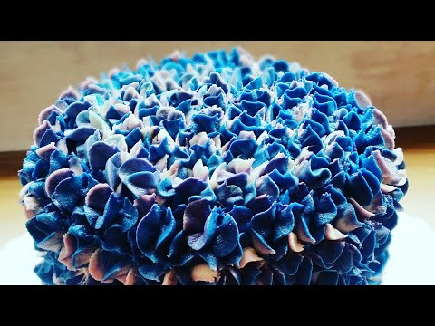 How to make a easy buttercream hydrangea cake