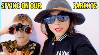 SPYING On Our PARENTS! **GONE WRONG**   Familia Diamond