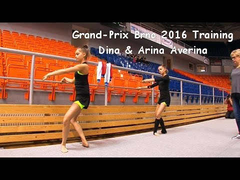 Dina & Arina Averina (RUS) Training Grand-Prix Brno 2016