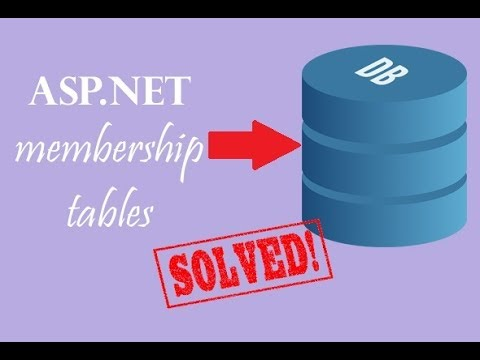 How to add ASP.Net membership tables to the existing database