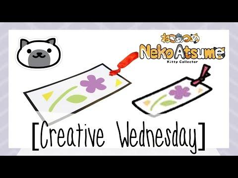 DIY NEKO ATSUME MARSHMALLOW'S FLOWER BOOKMARK MEMENTO! (FREE TEMPLATE) [CREATIVE WEDNESDAY]
