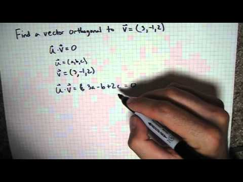 Find Orthogonal Vector