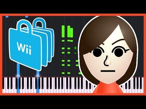 Mii & Wii Shop Theme [Piano Tutorial] (Synthesia) // Piano Man