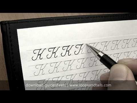 Learn cursive handwriting - Capital K