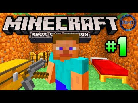 Minecraft XBOX ONE gameplay Part 1 -