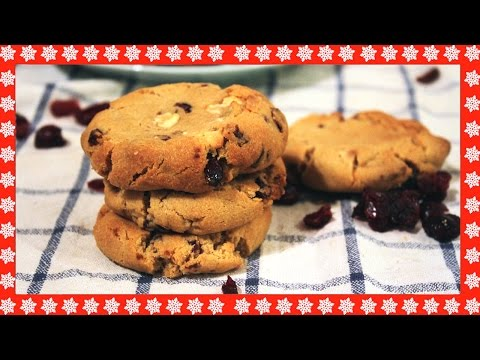 Festive Cranberry & White Chocolate Cookies