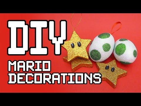 Mario Christmas Decorations DIY Tutorial