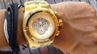 1b0c2b19ab5 Invicta BOLT ZEUS 12737 Gold Plated 18k Gold MOP Watch Review ...