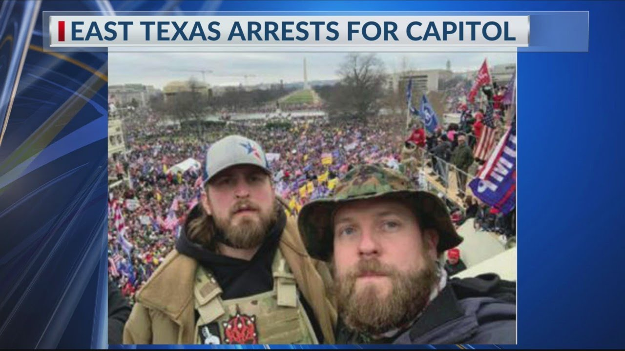 Two East Texans arrested for Capitol Hill riot called for 'second revolution', charged with several