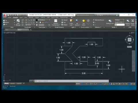 HOW TO DRAW AUTOCAD DRAWING BY USING ABSOLUTE COORDINATE SYSTEM
