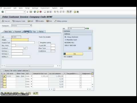 39 Fb70 Create Customer Invoice In Sap Fico