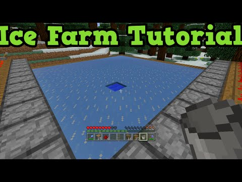 Minecraft Xbox One + PS4 - Ice Farm Tutorial : How To Make Ice
