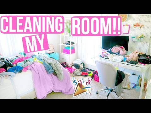 CLEANING MY ROOM!!! + NEW ORGANIZATION!!