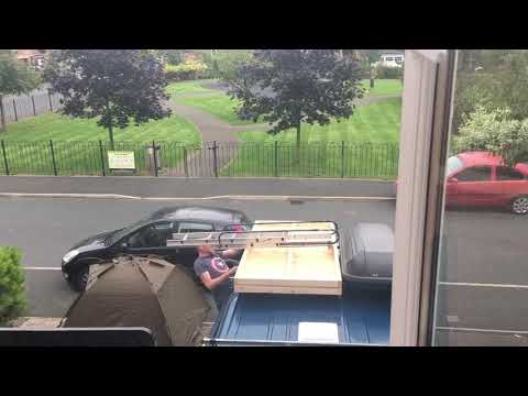 DIY roof tent action
