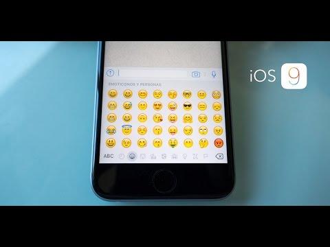 Emojis emoticonos en iOS9 iPhone y iPad