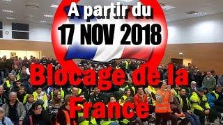 Organisation blocus du // 17-11-2018 // Région Paca
