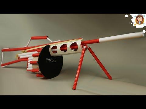 How to Make a Paper Gun that Shoots - (Machine Gun)