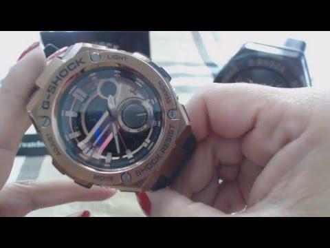 Casio G Shock Steel Digital Analog Watch GST210B - 4A