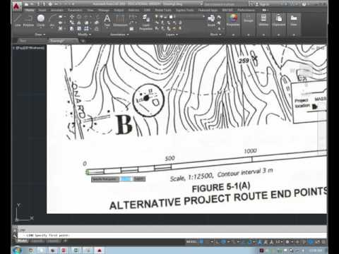 KSU CE 411: Importing topographic map to AutoCAD and scaling
