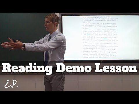 How to Teach Reading and Speaking (Mock lesson)