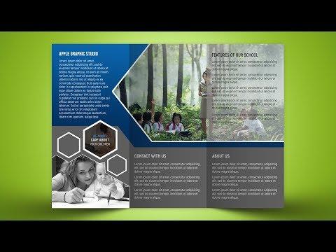 Custom Tri Fold Brochure Design - Photoshop Tutorial
