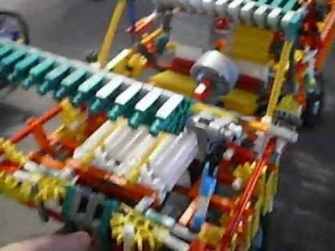 knex truck with trailer and dragster