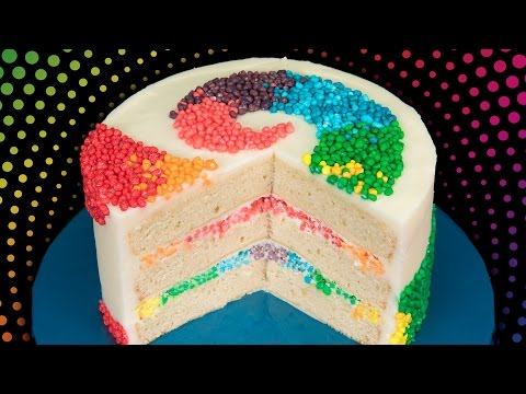 Rainbow Nerds Candy Cake from Cookies Cupcakes and Cardio