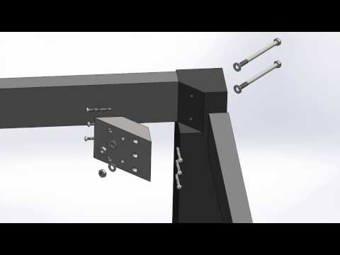removable table leg - exploded view
