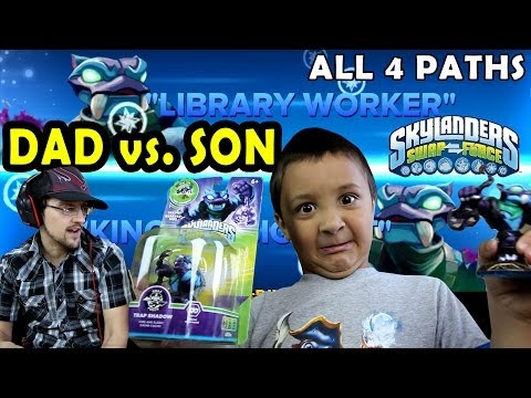SkyDad vs. SkyBoy TRAP SHADOW Skylanders Swap Force RING OUT Arena (Fully Upgraded w/ All 4 Paths)
