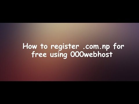How to Register .com.np for free using 000webhost