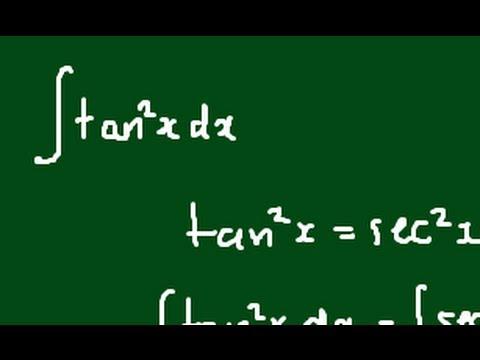How do I integrate tan^2(x)?