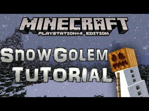 Minecraft PS4: How to make a SNOW GOLEM (Minecraft PS4)