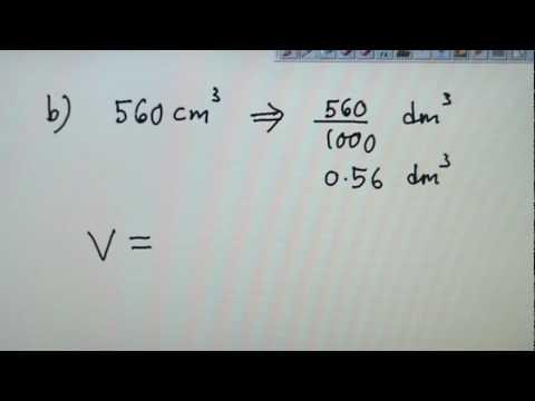 SPM Chemistry Molar Volume Example Calculations Part 1