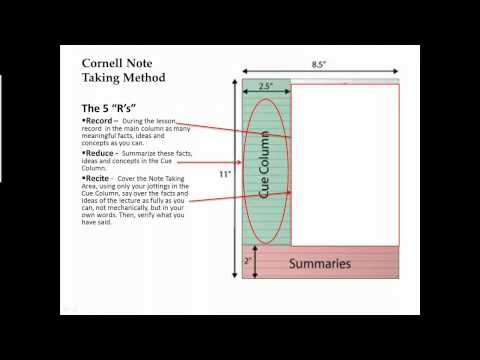 Cornell Notes video
