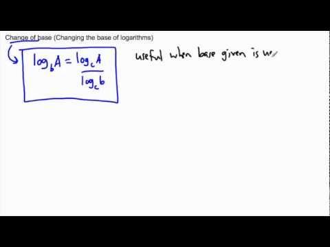 Logarithms - change of base - (IB Math, GCSE, A level, AP)