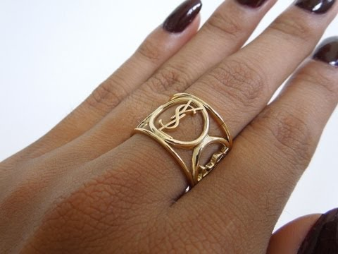 D.I.Y. YSL Ring From Lipstick Packaging     ReeseIsWeird