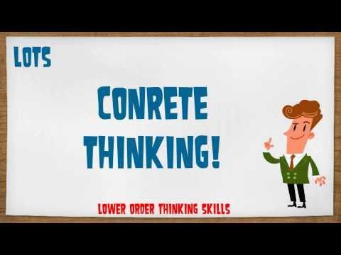 Methodology Pills No.17 Lower & Higher Order Thinking Skills