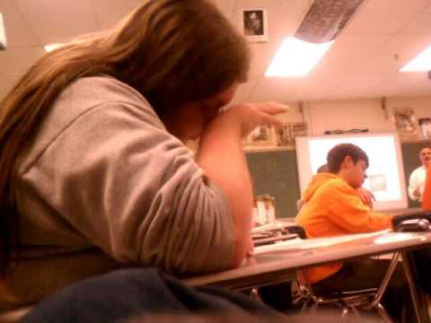 Alex falls asleep in class