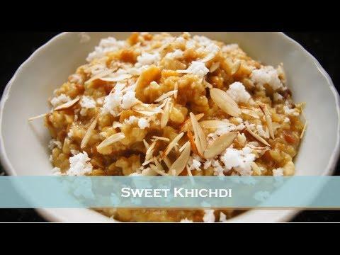 How to Make Sweet Khichadi / Broken Wheat and Chana Dal Sweet Khichdi / Konkani Style / Dalia -Hindi