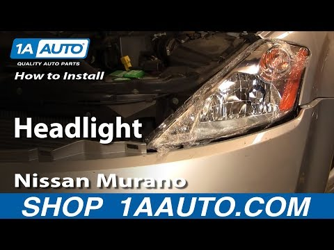 How To Install Replace Headlight 03-07 Nissan Murano 1AAuto.com